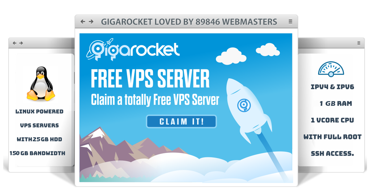 Free VPS | Free Virtual Private Server - GigaRocket